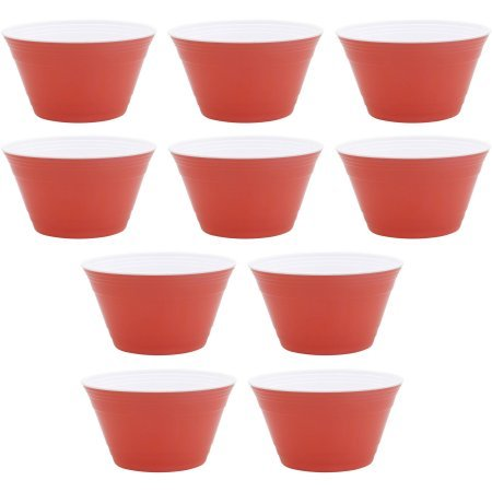 Better Homes and Garden Small Party Bowls 10-Pack, Melon (Bowling Pin Party Container compare prices)