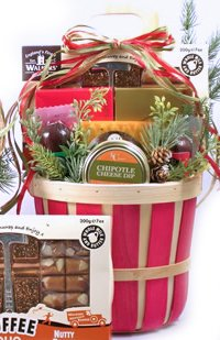Holiday Favorites Christmas Gourmet Food Gift Basket - Red - Size Large