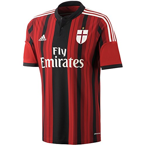 adidas Mens ClimaCool AC Milan 2014/2015 S/S Home Jersey XX-Large, Black/Red/White