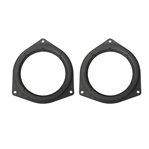 "Price comparison product image REAMTOP 6.5"" Aftermarket Plastic Black Speaker Adapter. Fitted For Toyota 4Runner, Avalon, Celica, Corolla, Echo, Highlander, Matrix, Prius, RAV, Sequoia, Sienna, Solara, Tacoma, Tundra, Venza, Yaris"