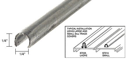 Small Sill Track Cover - 72 in long (Patio Door Track)