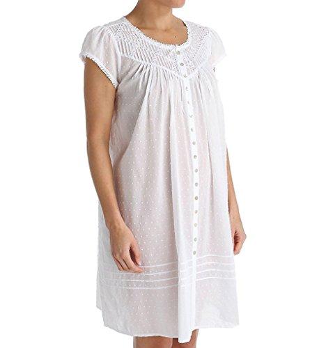 Eileen West Short Button Front Coat/Nightgown (5116058) M...