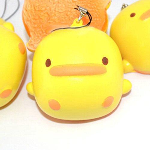 AP Shop, Anti Stress, Yellow Duck Squishy Slow Rising Charm Odor Bread (Yellow Jackets Seal Pendant)