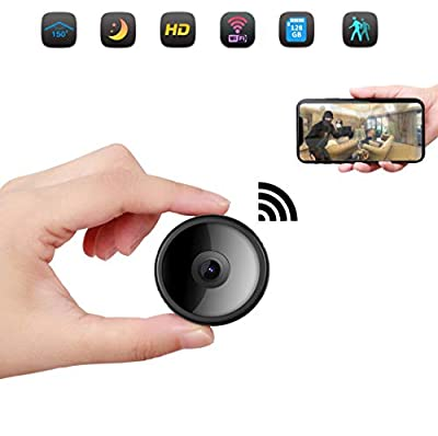 CreateGreat Mini Spy Camera Wireless Hidden Camera HD 1080P WiFi Camera Portable Home Security Cameras Nanny Cam Small Indoor Video Recorder Motion Activated Night Vision
