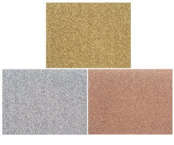 (Glittered Boxed Note Card Set (48 Cards and 48 Envelopes Glitter Gold, Silver, Bronze))