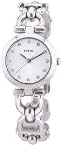 Fossil Women's ES3348 Olive Three Hand Stainless Steel Watch - Silver-Tone