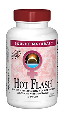 Source Naturals Hot Flash Premenopausal & Menopausal Symptom Support - Plant-Based, Herbal Relief with Black Cohosh, Soy, Don Quai & Chaste Tree - 90 Tablets
