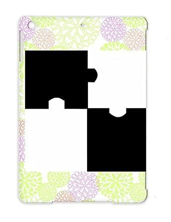 Puzzle Cool Symbols Shapes Little Black White Black Cover Case For