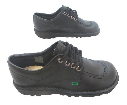 Kickers  Kick Lo W Core, Chaussures de ville à lacets pour femme noir noir