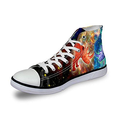 ThiKin スニーカー キャンバス シューズ 帆布 個性的 かわいい 動物 柄 シンプル 3Dプリント カジュアル 靴 軽量 通気 おしゃれ ファッション 通勤 通学 プレゼント