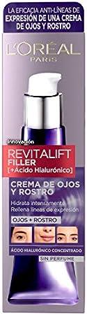 L'Oréal Paris Revitalift Filler Crema de ojos y rostro [+Ácido Hialurónico] 30 ml