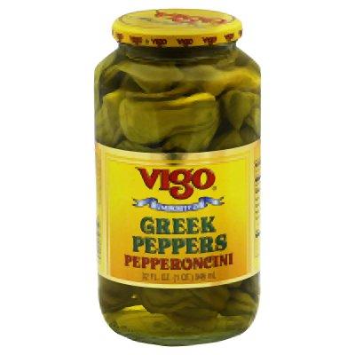 Vigo Importing Company Peppers, Greek, 32-Ounce (Pack of 6) by VIGO