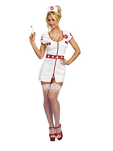 Dreamgirl Women's Calling The Shots Nurse, White/red M ()