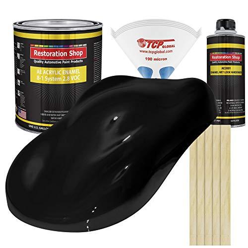 Restoration Shop - Complete Gallon Kit - Boulevard Black Acrylic Enamel Single Stage Car Auto Paint