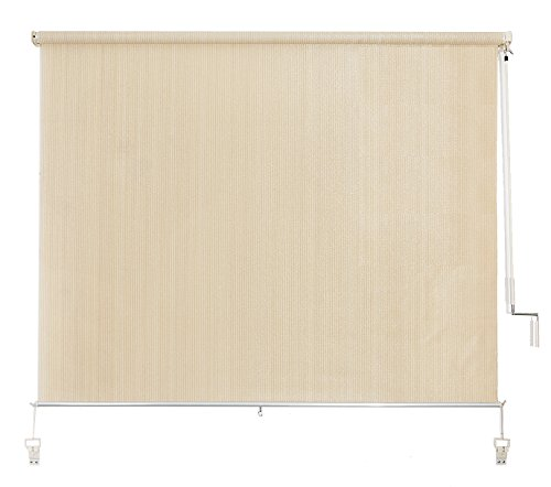 Cross Land Cordless Exterior Sun Shades Outdoor Solar Shades 5ft by 6ft Beige
