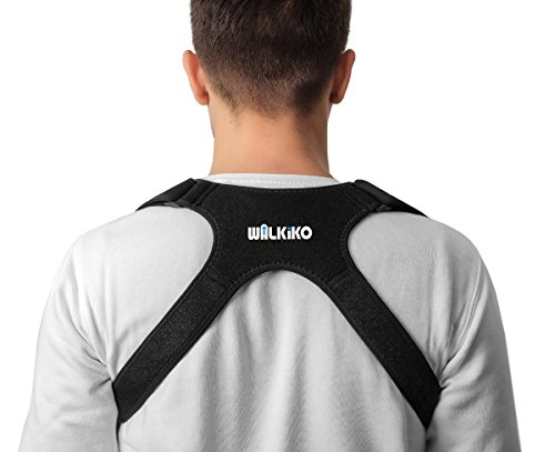 WALKIKO Posture Corrector Upper Back Brace, Clavicle and Shoulder Alignment Support, Adjustable for Men Women and Kids Comfortable Medical Correction, 24