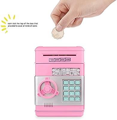 FreeLeben ATM Bancos de Dinero, Billete de Monedas Guarro Electronico Cosas de Almacenamiento Caja de Ahorro de Dinero con Contraseña Gran Juguete de ...