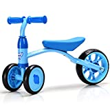 BABY JOY Baby Balance Bike, 3 Wheels Learn to Walk Toddle Tricycle, Solid Construction, 110lbs Capacity, Steering Limit, No Tool Required for Assembly, No Foot Pedal Walker for Boys & Girls