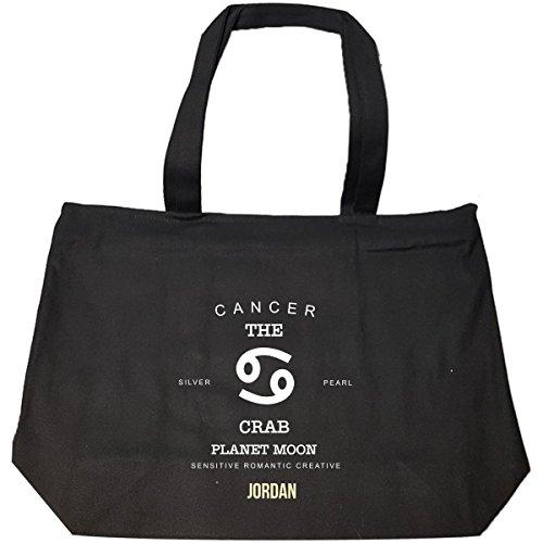 Jordan I Am Cancer The Crab - Man - Tote Bag With Zip by Namska