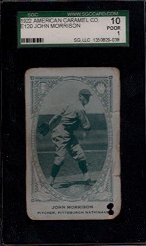 1922 American Caramel Co. E120 John Morrison SGC 10 Poor 1 17707