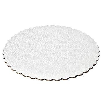 10 de color blanco borde festoneado bandejas para tartas, ...