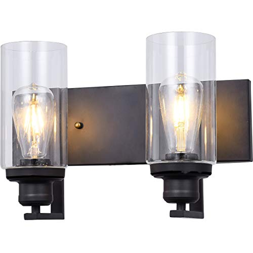 SEEBLEN 2-Light Wall Sconces Clear Class Wall Lamp Shades Vanity Light and -
