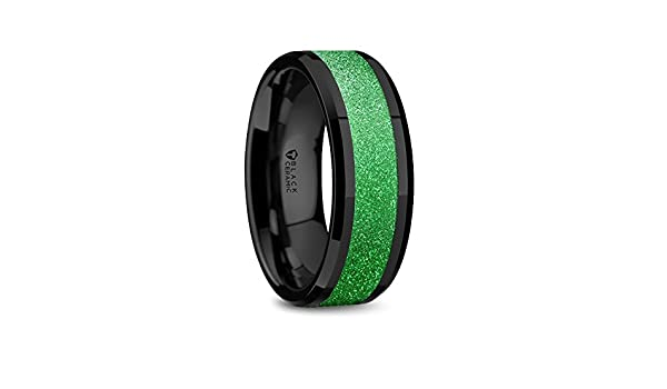 Thorsten Outdoor Sports Fishing Fisherman in Boat on Lake Print Pattern Ring Polished Tungsten Ring 10mm Wide Wedding Band from Roy Rose Jewelry