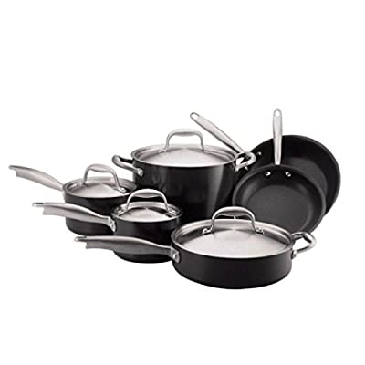 (Ship from USA) Anolon Titanium Hard Anodized Nonstick 10-Piece Cookware Set /ITEM NO#8Y-IFW81854239594