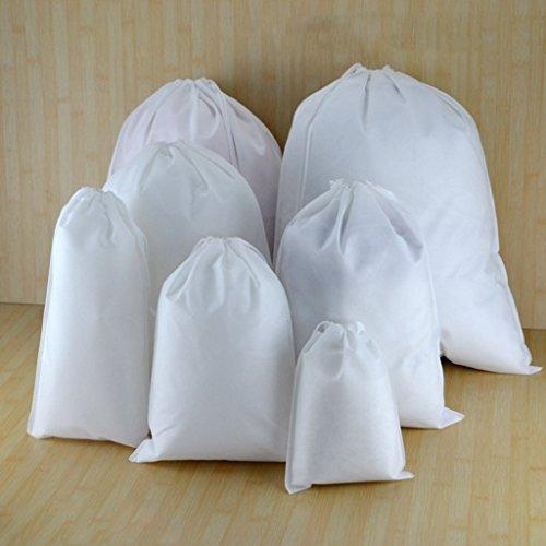 Blanc Ipotch Linge Sac Portable De Rangement 10pcs Pour À 8wF6U8pxq