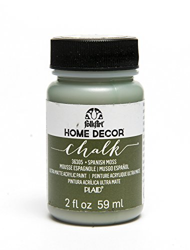 FolkArt Home Decor Chalk Furniture & Craft Paint in Assorted Colors (2 oz), 36305 Spanish Moss