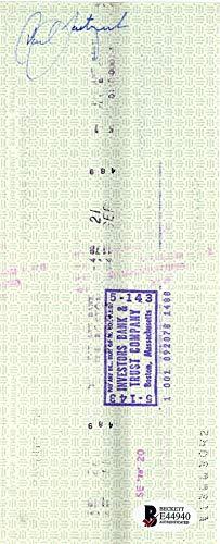 Carl Yastrzemski Signed Autographed 1978 Red Sox Payroll Bank Check Beckett BAS