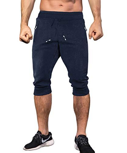MAKEIIT Short Joggers for Men Gym Shorts Grey Jogger Shorts Gym Shorts Outfit Guy Gym Shorts