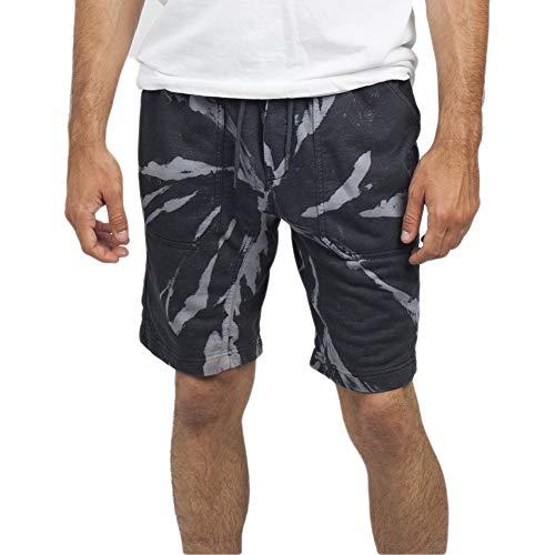 - NEFF Men's Acid Sweat Short, Black/tie dye L