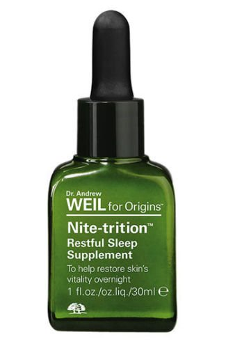 UPC 717334117761, 2 Piece Night Set: Dr. Andrew Weil for Origins - Nite-trition Restful Sleep Supplement Vegetarian 1 Fl Oz + Origins Night Vision Relaxing Eye Mask