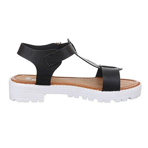 Ital-Design Women's Sandals Black - Black wamshoCBj0