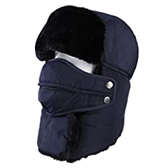Specifications: Fit Season: Winter Size: One size fit most Color: Black, Grey  Cold-resistant Capability: -40 degree centigradePackage Includes:  1 x 1 Hat