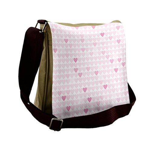 Lunarable Love Messenger Bag, Romantic Wedding Theme Hearts, Unisex Cross-body by Lunarable