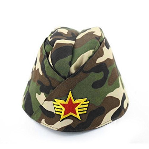 Russian Army Cap Tricorne Green Camo Bonnet Star Logo Women Sailor Military Stage Performance Dance Hats Chinese Boat Caps 17