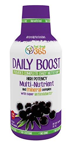 Daily Boost : Antioxydant formule w/66 Super ingrédients - obtenez tous les éléments nutritifs dont vous avez besoin en une seul, A un jour tourné - plus énergétique, plus nette mentale provision de Focus-30 jours - bouteille vide garantie