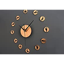 Apexshell(TM) Minimal Art Creative Sex Clock Removable DIY Acrylic Mirror Wall Decal Wall Sticker Decoration for the bedroom livingroom TV wall in the sitting room sofa