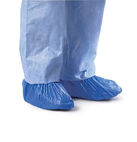 Medline CRI2010 Polyethylene Boot and Shoe Covers, Impervious, Blue (Pack of 1000) - Medline Shoe Cover