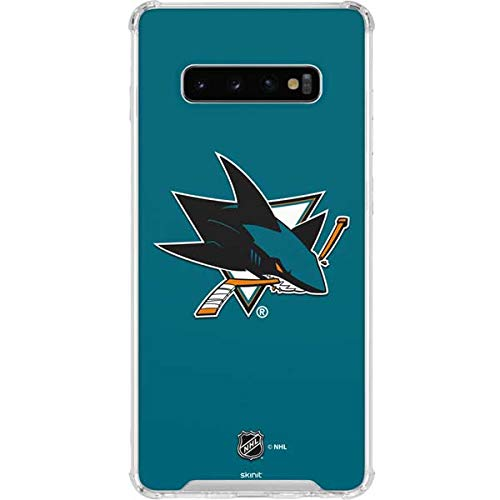 4671b6ffed2 Amazon.com: Skinit San Jose Sharks Jersey Galaxy S10+ Clear Case -  Officially Licensed NHL Samsung Galaxy Phone Case - Transparent Galaxy S10  Plus Clear ...