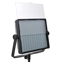 ePhotoInc 900 LED Dimmable Photography Studio Video DSLR Camera Light Panel 5400K/3200K Sony V mount CN900SD