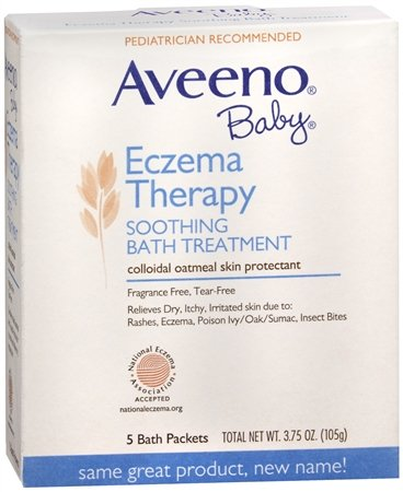 AVEENO Baby Fragrance Free Soothing Bath Treatment Packets 5 Each (Pack of 3)