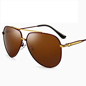 LUKEEXIN Vintage Casual Polarized Sunglasses Sun Glasses for Mens Womens 100% UV Protection (Color : Brown)