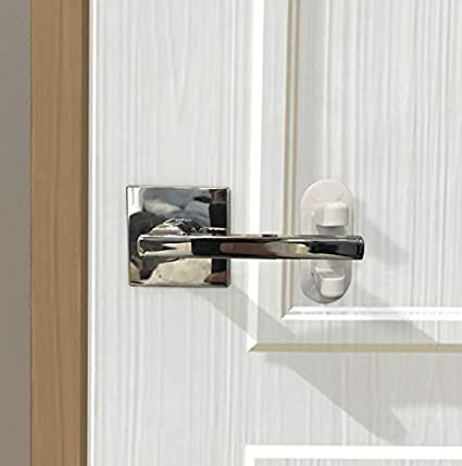 2pcs Manija de la puerta de la cerradura de seguridad del bebé Manija de la puerta de la palanca de la cerradura de la puerta de la cerradura de seguridad ...