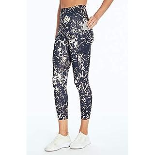 Bally Total Fitness High Rise Pocket Mid-Calf Legging, Abstract Cheetah Light Taupe, Medium