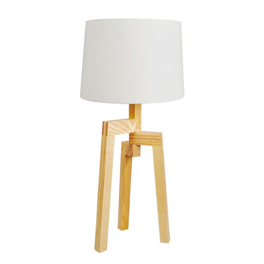 Einfache Europäische Art-hölzerne Lampen-Arbeitszimmer-Wohnzimmer-hölzerne Lampe (Farbe   With light bulb-Netzschalter-Taste)