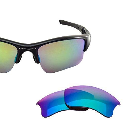 LenzFlip Lens Replacement for Oakley FLAK Jacket XLJ Sunglass - Brown Polarized with Jade Green Mirror - Jacket Green Flak