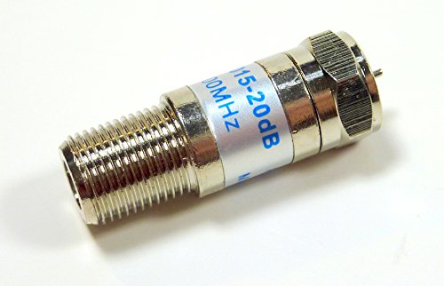 Phillmore 20 dB Coax Cable TV Signal Attenuator Pad; 42-120